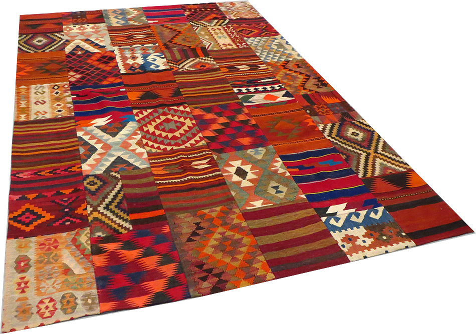tapis de decoration tapis kilim patchwork extra fin 315 x 209 cm laine 3907 www. Black Bedroom Furniture Sets. Home Design Ideas
