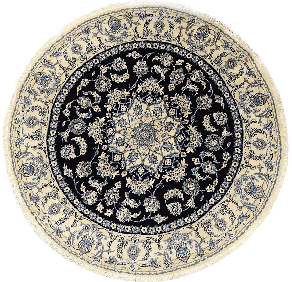 tapis persan tapis nayn 9l 200 x 200 cm laine et soie 5175. Black Bedroom Furniture Sets. Home Design Ideas