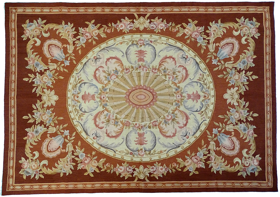 tapis oriental tapisserie style aubusson 220 x 150 cm laine 2318. Black Bedroom Furniture Sets. Home Design Ideas