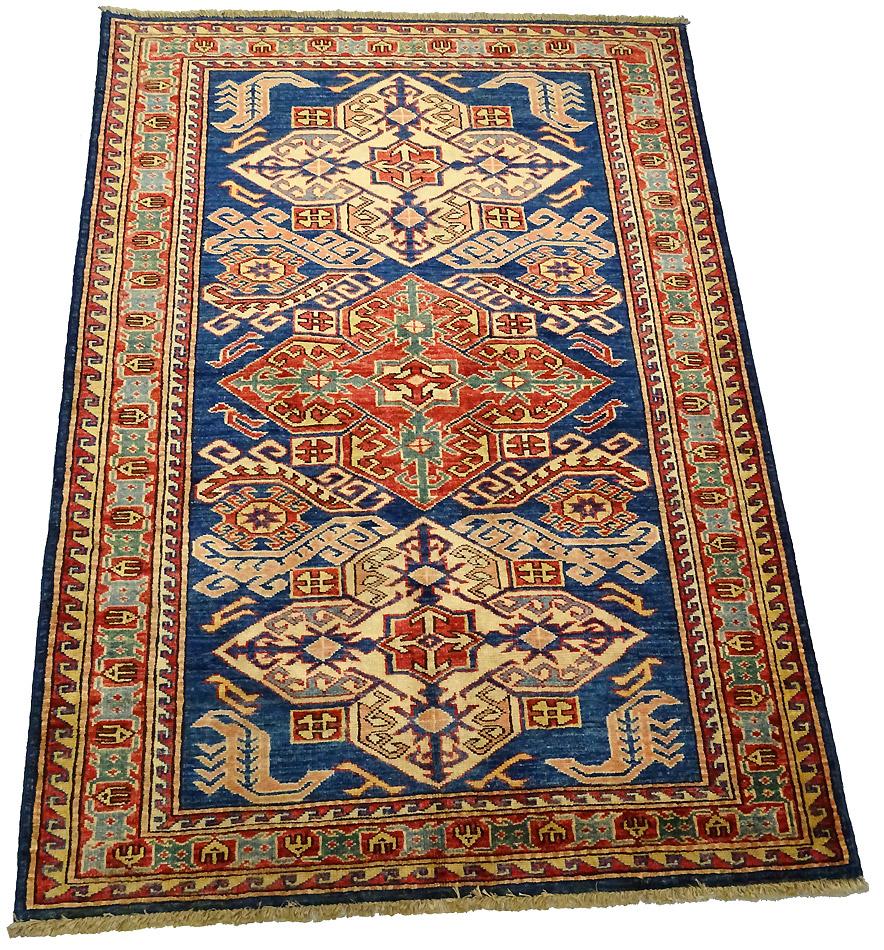 tapis oriental tapis kazak extra fin 139 x 100 cm laine 598. Black Bedroom Furniture Sets. Home Design Ideas