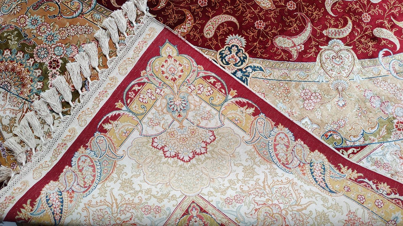Tapis persan en soie naturelle fait main