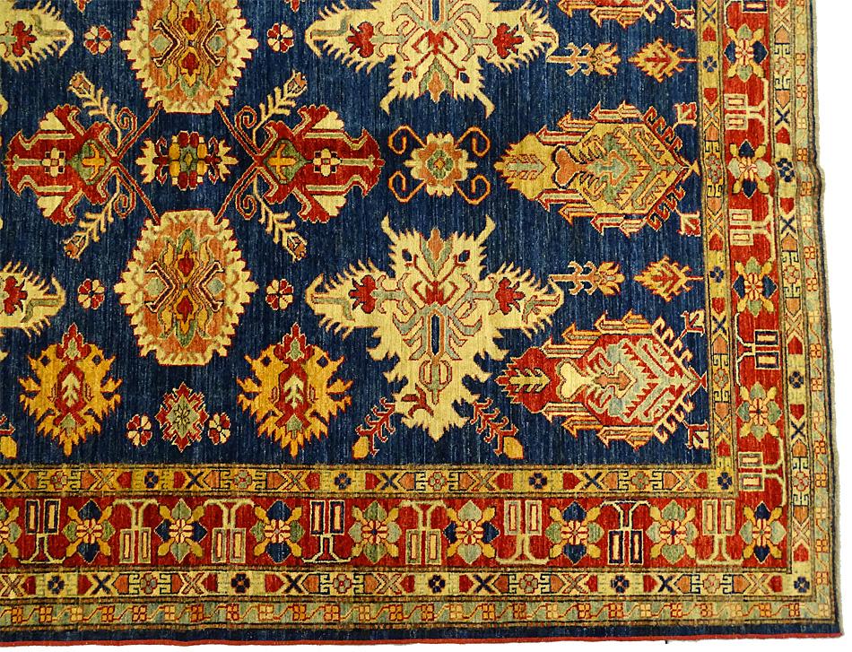 tapis oriental tapis kazak extra fin 270 x 200 cm laine 4637. Black Bedroom Furniture Sets. Home Design Ideas