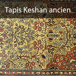 Tapis persan - Tapis Keshan ancien de collection
