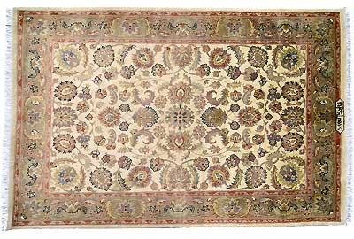 Tapis persan & Oriental - Tapis Pendjab fond soie